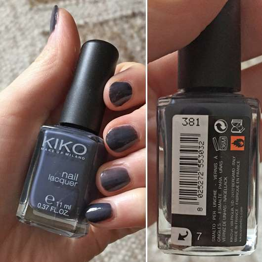 <strong>KIKO</strong> Nail Lacquer - Farbe: 381 Purple Grey