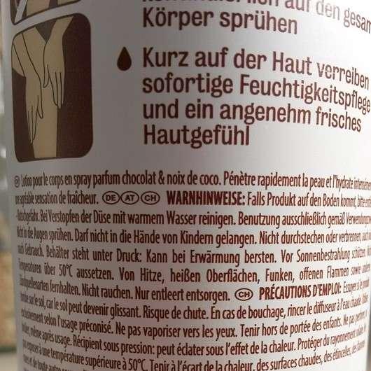 duschdas Body Lotion Spray & Go Schokoladen- & Kokosnussduft