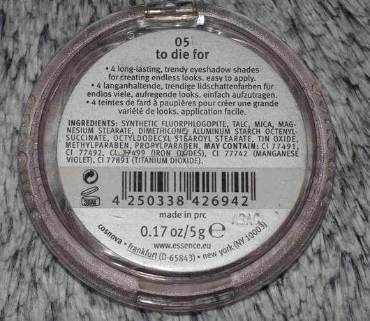 essence quattro eyeshadow, Farbe: 05 to die for