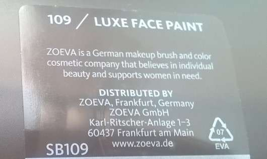 Zoeva 109 Luxe Face Paint
