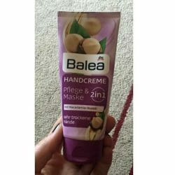 Produktbild zu Balea Handcreme 2in1 Pflege & Maske mit Macadamia-Nussöl