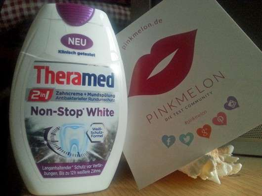 Theramed 2in1 Zahncreme + Mundspülung Non-Stop White