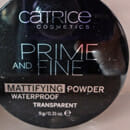 Catrice Prime And Fine Mattifying Powder Waterproof, Farbe: 010 Transluscent