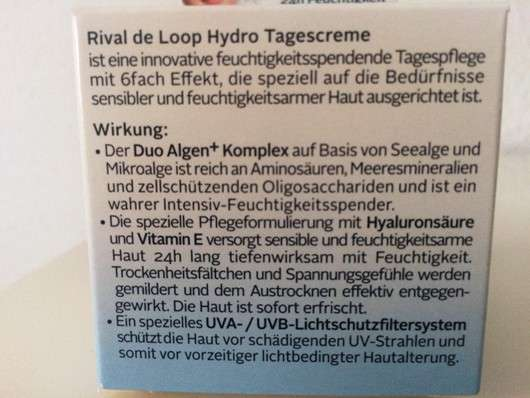 Rival de Loop Hydro Tagescreme