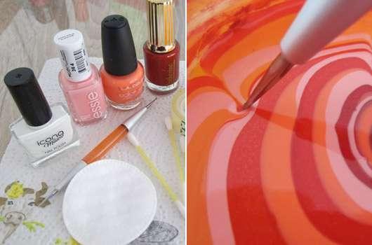 Zwei Methoden, ein Effekt: Marmor Nails für kurze Nägel