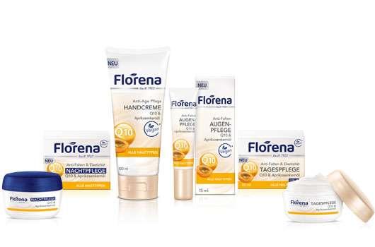 Florena Anti-Falten-Pflegeserie mit Q10 und Aprikosenkernöl