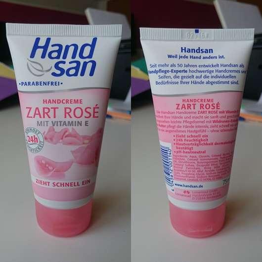 Handsan Handcreme Zart rosé
