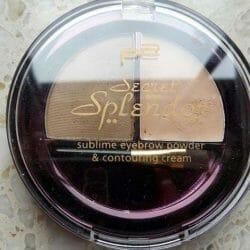 Produktbild zu p2 cosmetics secret splendor sublime eyebrow powder & contouring cream – Farbe: 010 gentle brunette (LE)