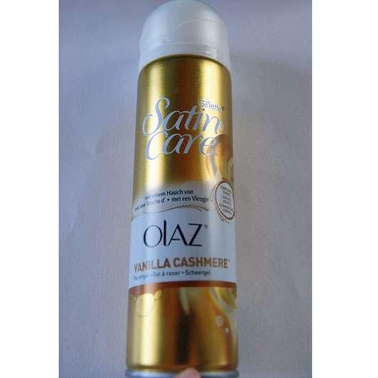 <strong>Gillette Venus</strong> Satin Care Rasiergel mit einem Hauch von Olaz (Vanilla Cashmere)