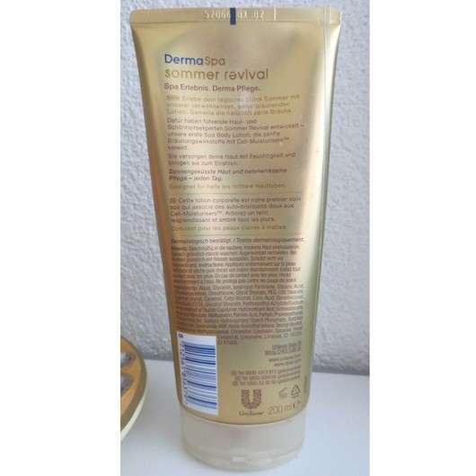 Dove DermaSpa Summer Revival Body Lotion für helle Hauttypen