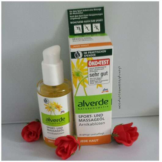 alverde Sport- und Massageöl Arnikablüten