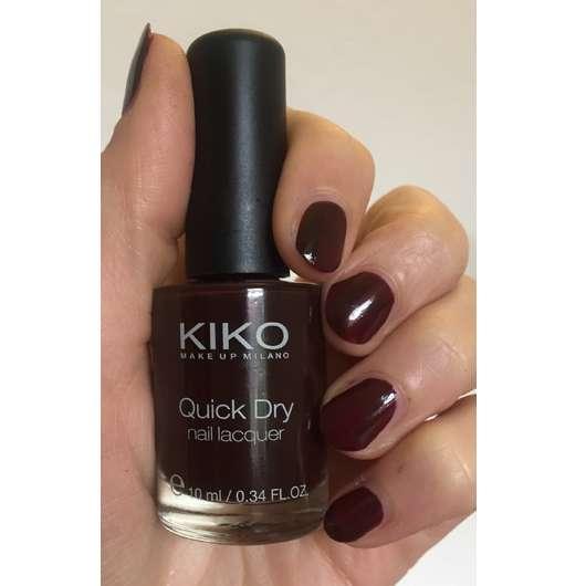 <strong>KIKO</strong> quick dry nail lacquer – Farbe: 812 Mahogany
