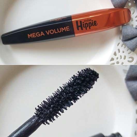 L'Oréal Paris Mega Volume Miss Hippie Mascara, Farbe: Black