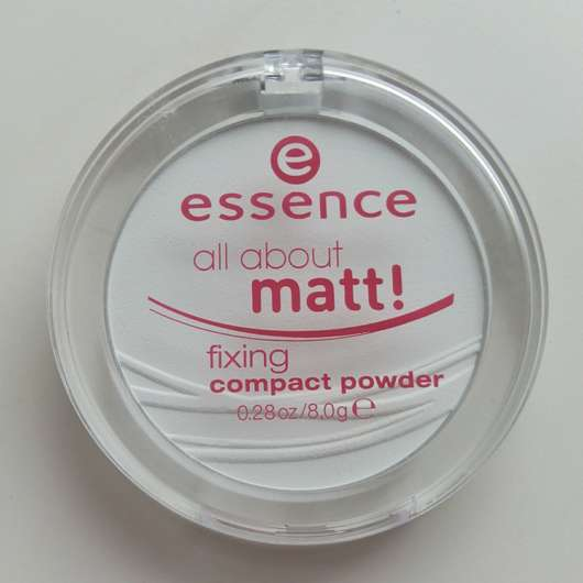 essence all about matt! fixing compact powder