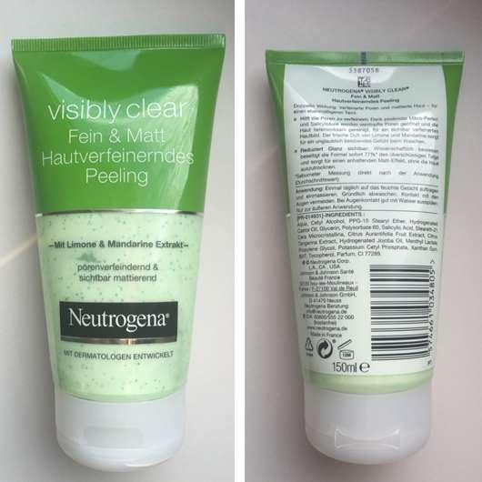 Neutrogena Visibly Clear Fein & Matt Hautverfeinerndes Peeling