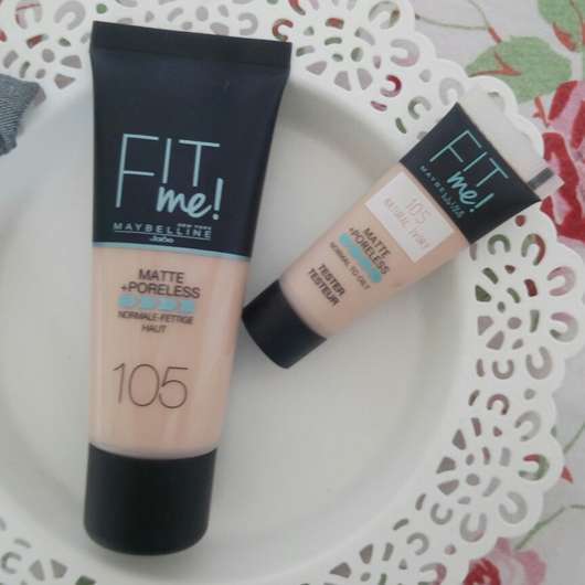 Maybelline Fit Me! Matte + Poreless Make-up, Farbe: 105 Natural Ivory