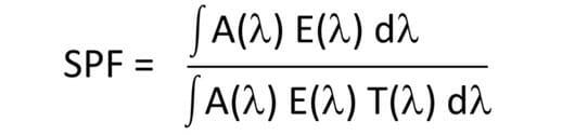 Theoretische Berechnung des Lichtschutzfaktors