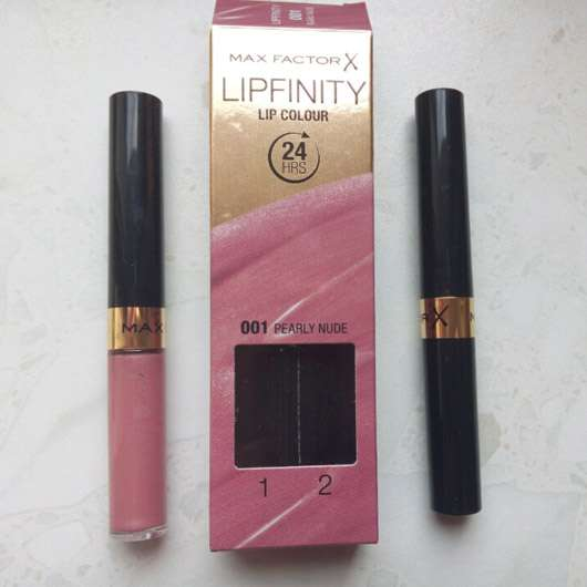 <strong>Max Factor</strong> Lipfinity Lip Colour – Farbe: 001 Pearly Nude