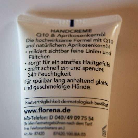 Florena Anti-Age Pflege Handcreme Q10 & Aprikosenkernöl