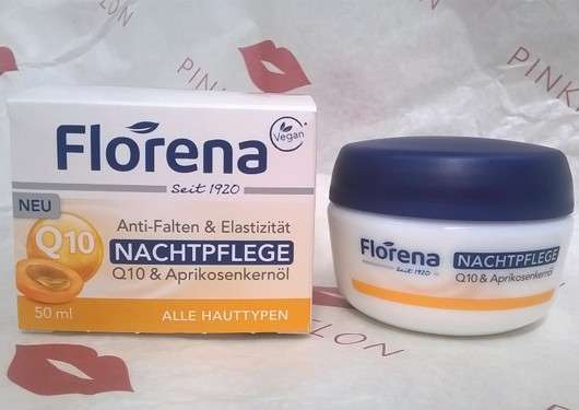Florena Anti-Falten & Elastizität Nachtpflege Q10 & Aprikosenkernöl