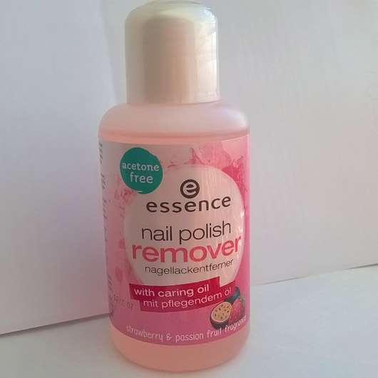essence nail polish remover hardening (strawberry & passion fruit fragrance)
