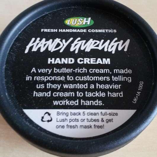 LUSH Handy Gurugu (Handcreme)