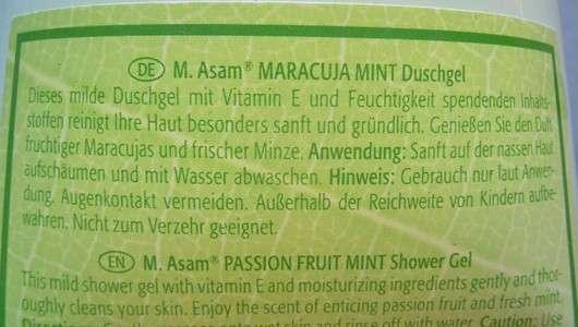 M. Asam Maracuja Mint Duschgel (LE)