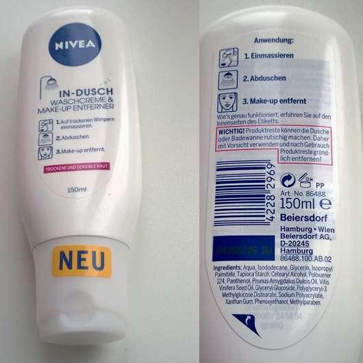 NIVEA In-Dusch Waschcrem & Make-up Entferner (trockene und sensible Haut)