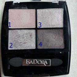 Produktbild zu IsaDora Eye Shadow Quartet – Farbe: 10 Soft Suede (LE)