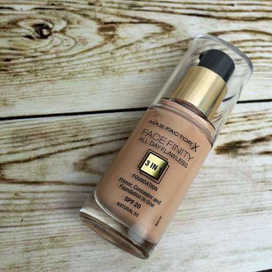 Max Factor Face Finity All Day Flawless 3in1 Foundation, Farbe: Natural 50-gesicht-geschminkt