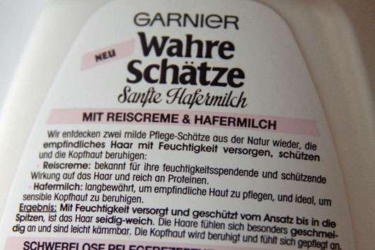 Garnier Wahre Schätze Sanfte Hafermilch Beruhigendes Shampoo