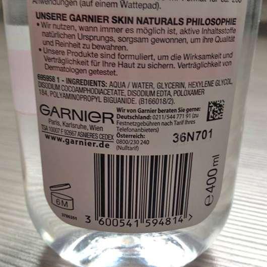 Garnier Skin Naturals Mizellen Reinigungswasser All-in-1 (trockene & empfindliche Haut)