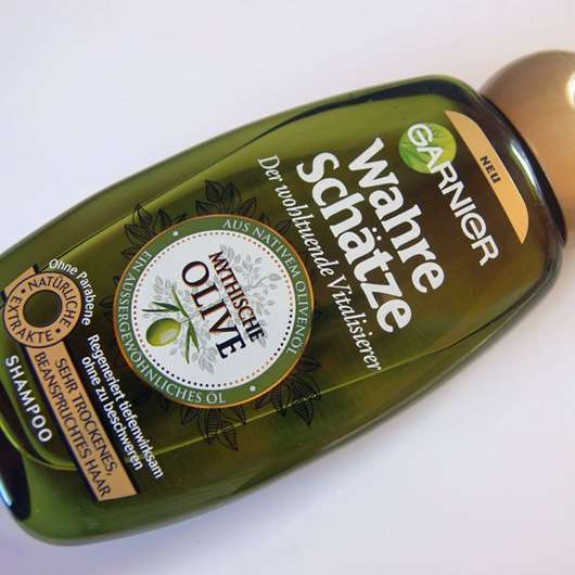 Garnier Wahre Schätze Der wohltuende Vitalisierer Shampoo Mythische Olive
