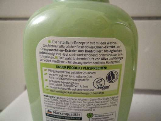 alverde Flüssigseife Bio-Olive Bio-Orange