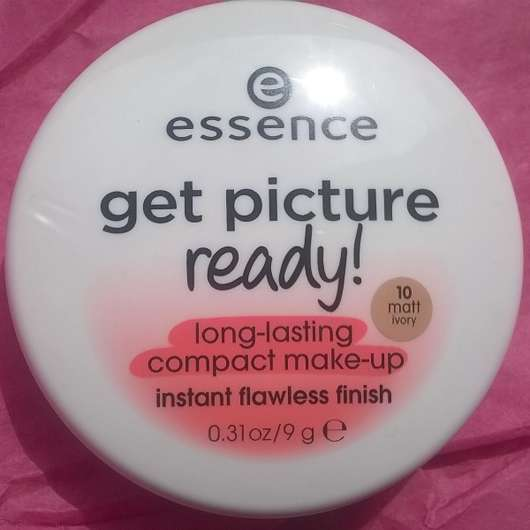 essence get picture ready! long-lasting compact make-up, Farbe: 10 matt ivory