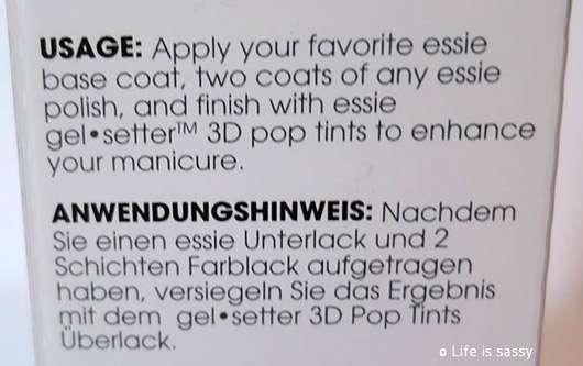 essie Gel Setter 3D Pop Tint Top Coat, Farbe: Inflight Delight (LE)