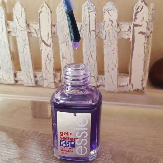 essie Gel Setter 3D Pop Tint Top Coat, Farbe: Royal Sky Service (LE)