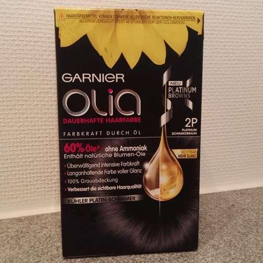 Garnier Olia Dauerhafte Haarfarbe, Farbe: 2P Platinum Schwarzbraun