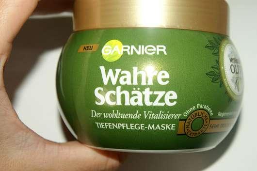 Garnier Wahre Schätze Der wohltuende Vitalisierer Tiefenpflege-Maske Mythische Olive