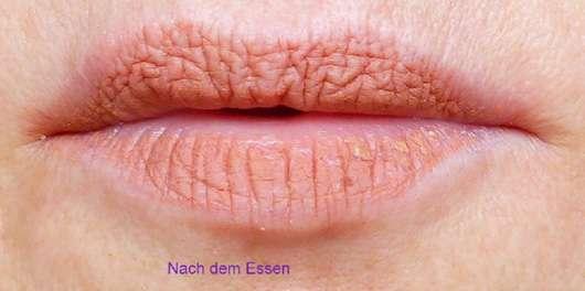 just cosmetics 8h velour matte-lip cream Farbe 060 drop it haftfestigkeit nach dem Essen