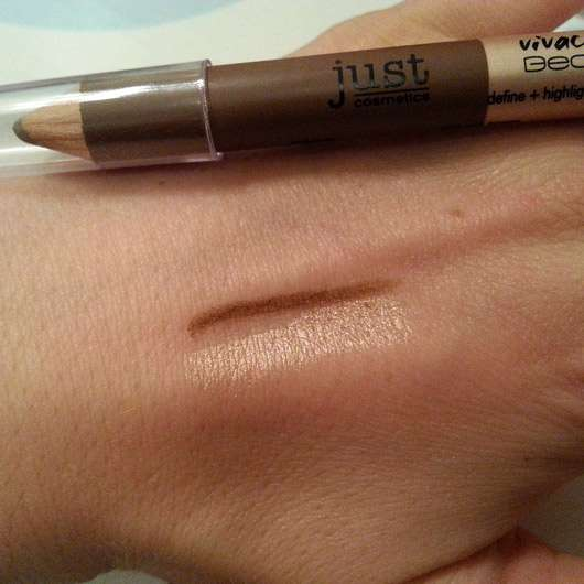 just cosmetics vivacious beauty define + highlight eyebrow duo, Farbe: 010 soft brown (LE)