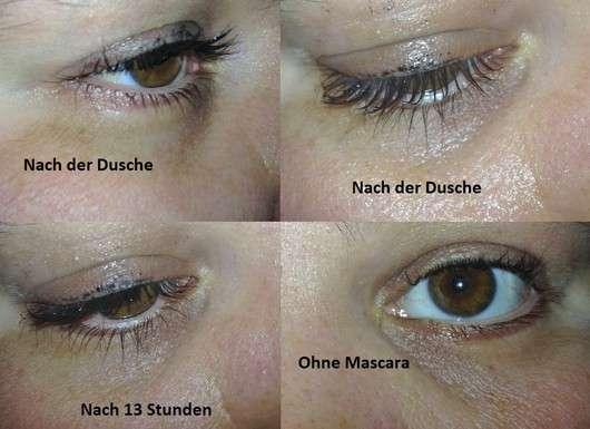 Max Factor Voluptuous False Lash Effect Mascara Waterproof aufgetragen nach einigen Stunden