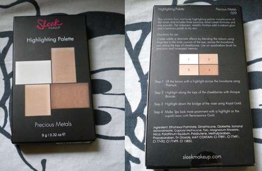 Sleek MakeUP Highlighting Palette, Farbe: Precious Metals