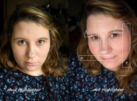 Sleek MakeUP Highlighting Palette, Farbe: Precious Metals - im Gesicht aufgetragen2