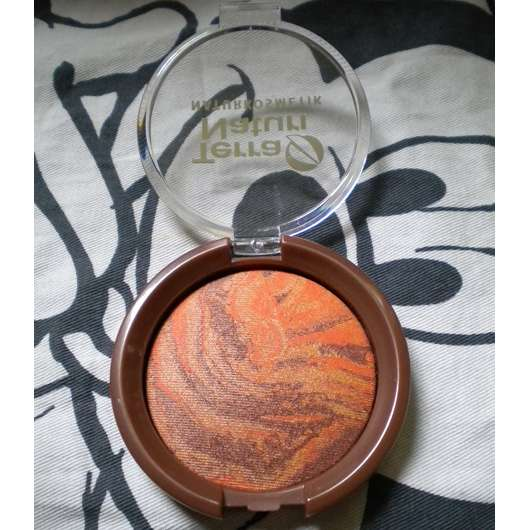 geöffnete Verpackung des Terra Naturi Body & Face Shimmer Powders, Farbe: 02 African Dream