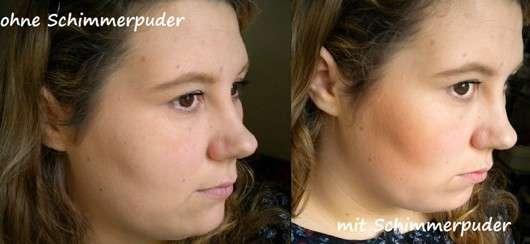 Terra Naturi Body & Face Shimmer Powder, Farbe: 02 African Dream auf dem Gesicht aufgetragen
