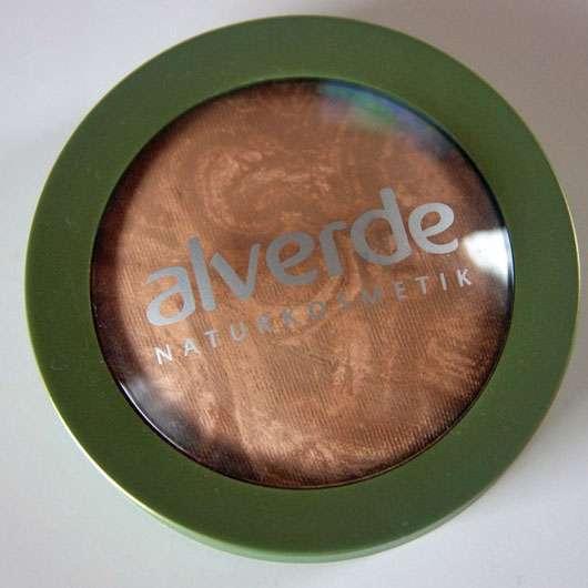 alverde Marmorierter Duo Bronzer, Farbe: 01 Soft Bronze - verschlossener Tiegel