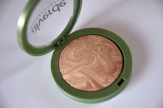 alverde Marmorierter Duo Bronzer, Farbe: 01 Soft Bronze - geöffnet