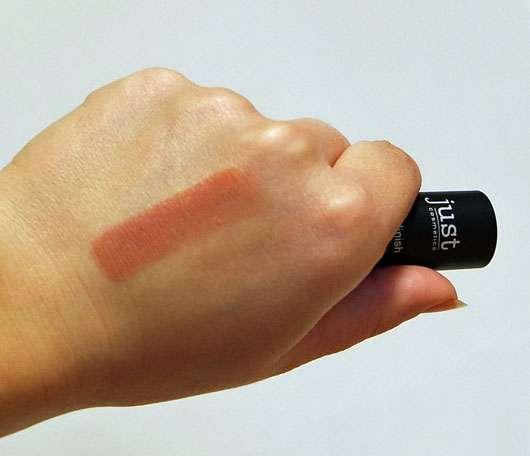 just cosmetics matte finish lipstick, Farbe: 130 sensation-swatch auf der Hand