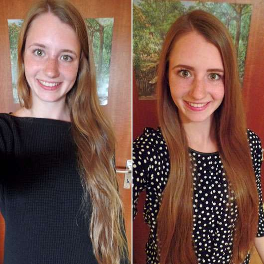 JOICO IronClad Hitzeschutzspray - Haare im Vergleich